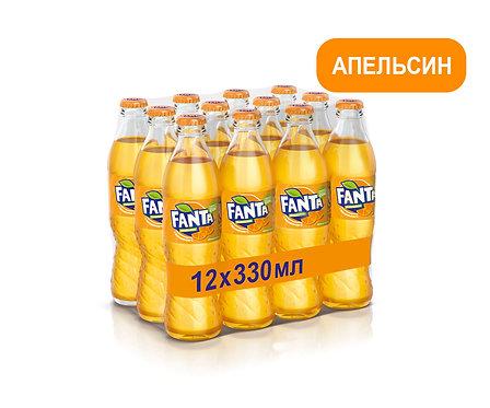 Упаковка Fanta. Стекло. 330 мл
