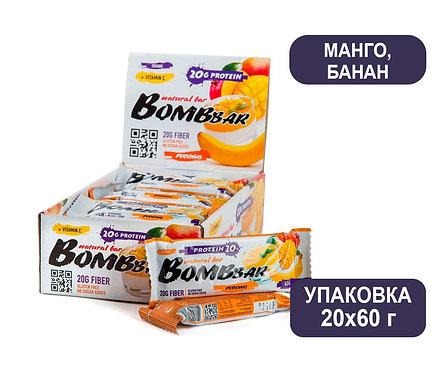 Упаковка Bombbar. Манго/Банан. 60 г. Протеиновый батончик