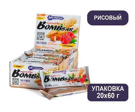 Упаковка Bombbar. Рисовый. 60 г. Протеиновый батончик