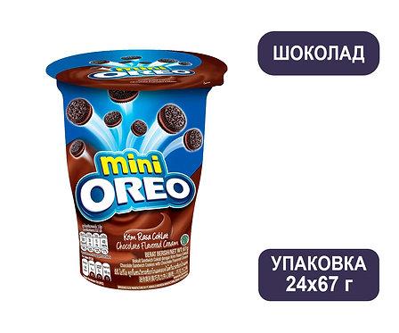 Упаковка Oreo мини. Печенье с шоколадным кремом. Стакан. 67 г.
