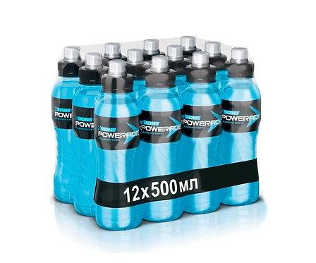 """Упаковка Powerrade """"Ледянная буря"""". ПЭТ. 500 мл. Энергетический напиток"""