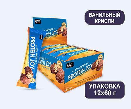 Упаковка Батончиков QNT Protein Joy. Ванильный криспи. 60 г