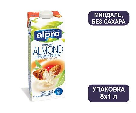 Коробка ALPRO Миндаль без сахара. Напиток ореховый. Тетра пак. 1 литр
