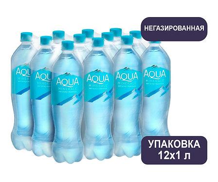 Упаковка Aqua Minerale. Негазированная. Питьевая вода. ПЭТ. 1 л