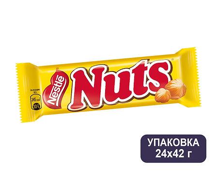 Упаковка Nuts. Шоколадный батончик. 42 г.