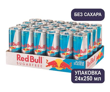 Упаковка Red Bull (без сахара). Ж/б. 250 мл. Энергетический напиток
