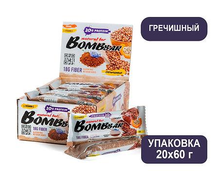 Упаковка Bombbar. Гречишный. 60 г. Протеиновый батончик