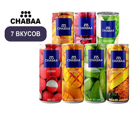 Упаковка Chabaa. Безалкогольный напиток. ж/б. 230 мл
