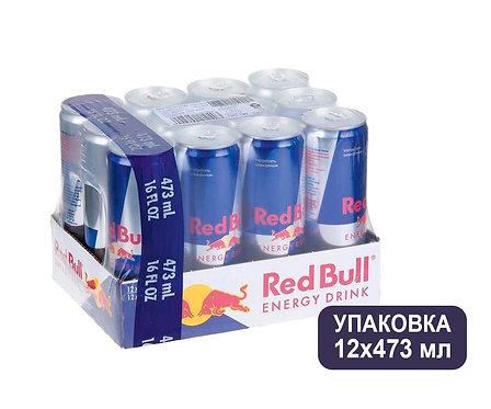 Упаковка Red Bull. Ж/б. 473 мл. Энергетический напиток