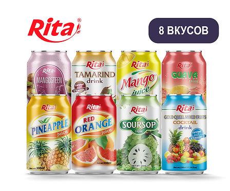 Упаковка Rita. Безалкогольный напиток. ж/б. 330 мл