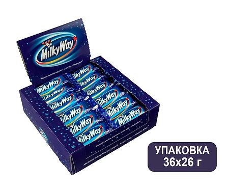 Упаковка Milky Way. Шоколадный батончик. 26 г.