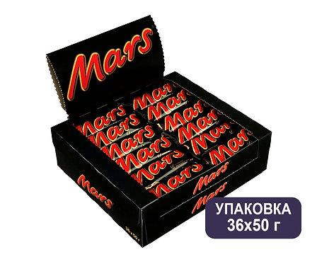 Упаковка Mars. Шоколадный батончик. 50 г.