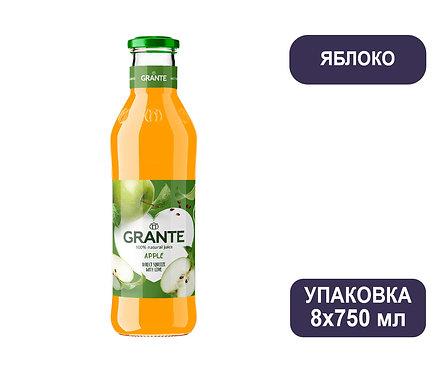 Упаковка Сок Grante Яблоко. Стекло. 750 мл