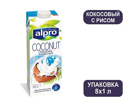 Коробка ALPRO Кокос с рисом. Напиток ореховый. Тетра пак. 1 литр