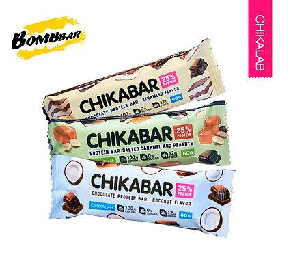 Упаковка ChikaLab. Батончик глазированное. 60 г. (Арахис, Кокос, Тирамису)