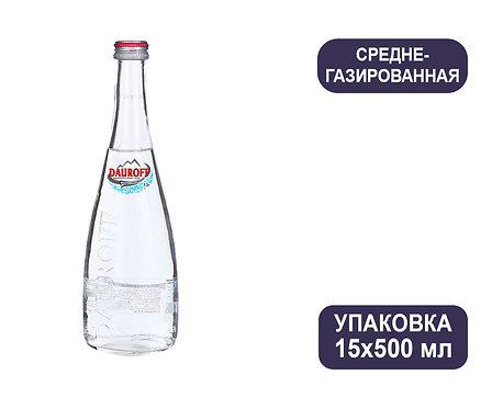 Упаковка DAUROFF. Среднегазированная. Природная питьевая столовая. Стекло.500 мл