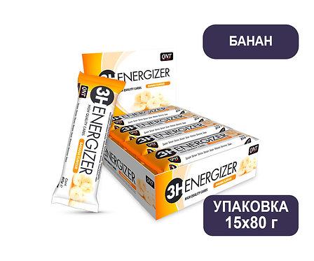 Упаковка Батончиков QNT 3H Energizer BAR. Банан. 80 г
