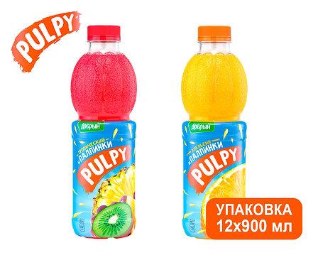 Упаковка Pulpy. ПЭТ. 900 мл (Апельсин, тропик)