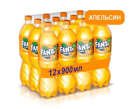 Упаковка Fanta. ПЭТ. 900 мл