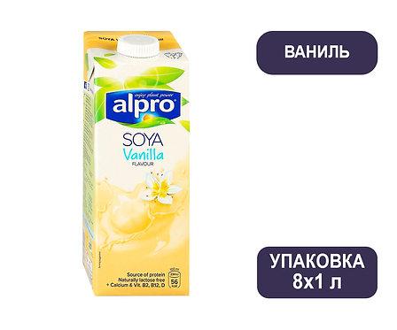 Коробка ALPRO Ваниль 1,8%. Соевый напиток. Тетра пак. 1 литр