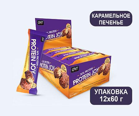 Упаковка Батончиков QNT Protein Joy. Карамельное печенье. 60 г