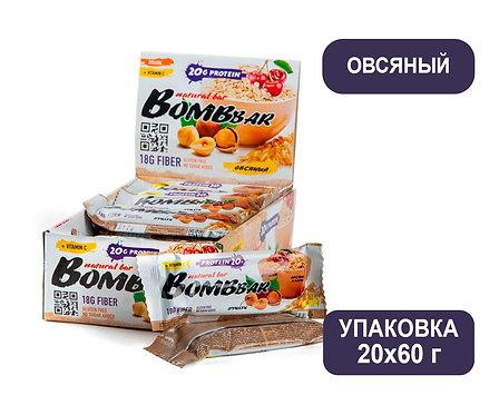 Упаковка Bombbar. Овсяный. 60 г. Протеиновый батончик