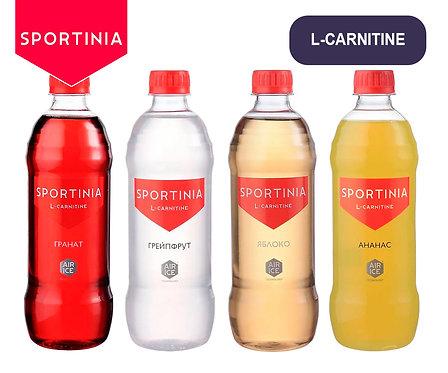 Упаковка SPORTINIA L-CARNITINE. ПЭТ. 500 мл. (Ананас, гранат, грейпфрут, яблоко)