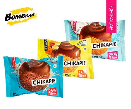 Упаковка ChikaLab. Печенье глазированное. 60 г. (Арахис, Кокос, Шоколад)