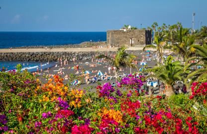 Playa Jardín an einem Sonntag