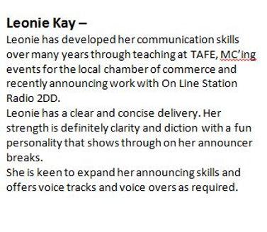 Leonie Kay Bio
