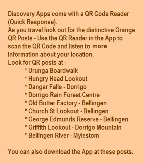 QR Post Locations Bellingen Shire