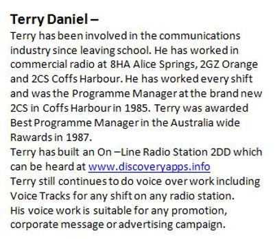 Terry Daniel Bio