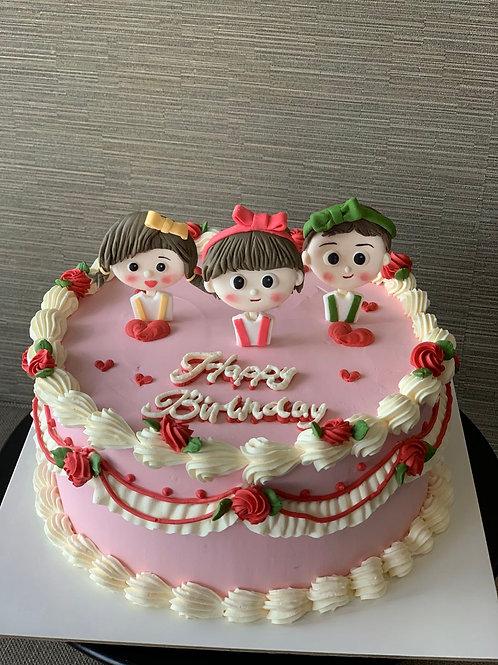 Fondant Figure Cake