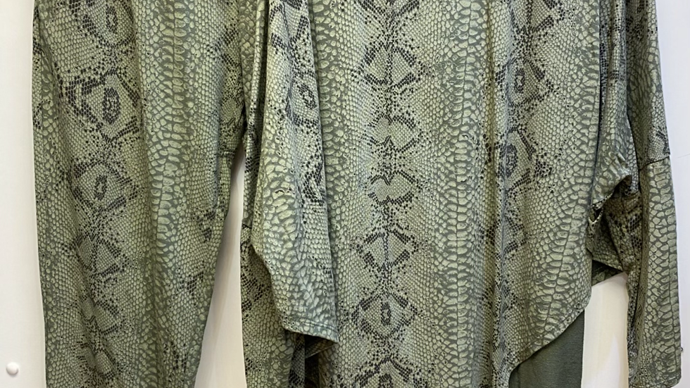 Snake Print Leisure Suit