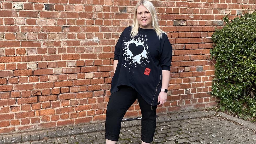 Graffiti Heart Sweatshirt