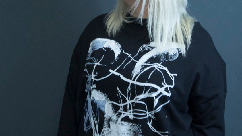 Graffiti Oversized Sweatshirt