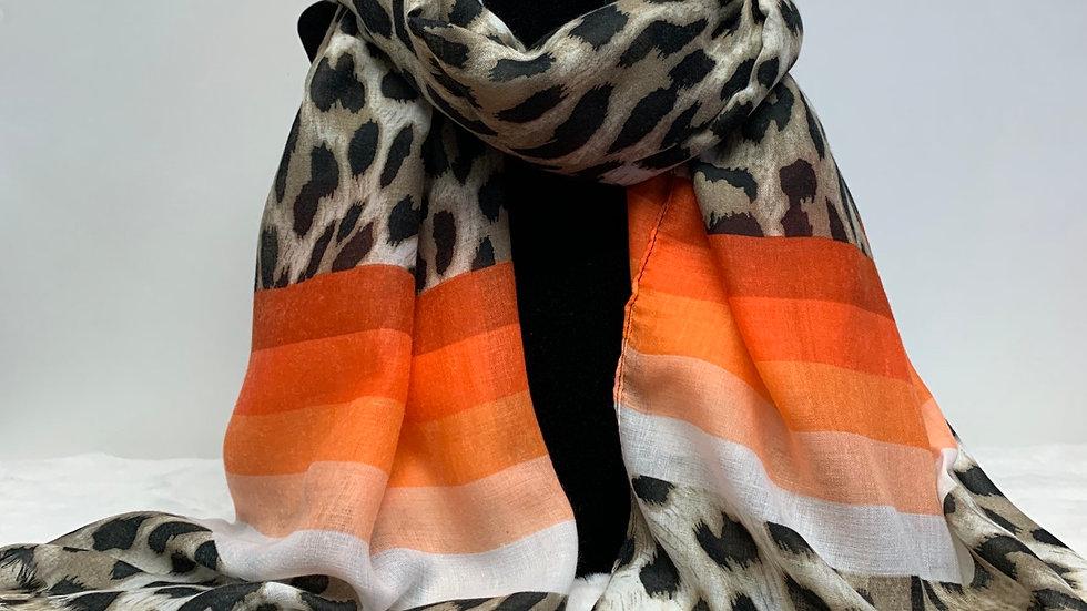Ombré Leopard Print Scarf