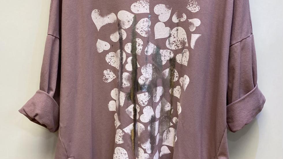 Heart Printed Sweatshirt