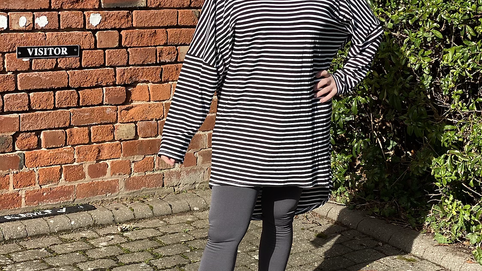Striped Slouch Top