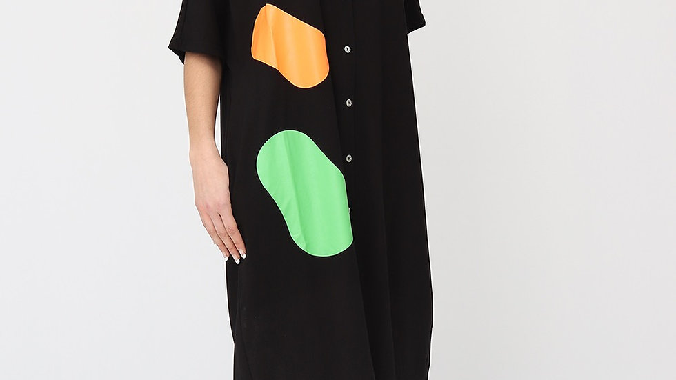 Bella Blue Circle Shirt Dress