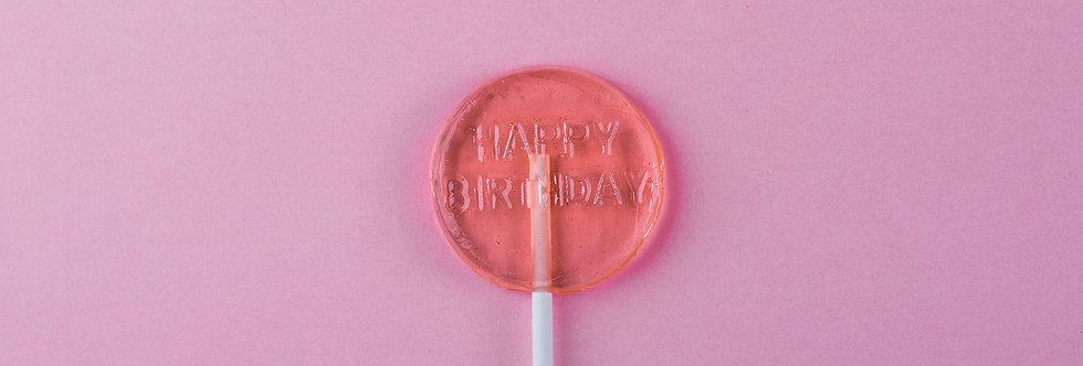 HAPPY BIRTHDAY LOLLIPOP (6 PIECES)