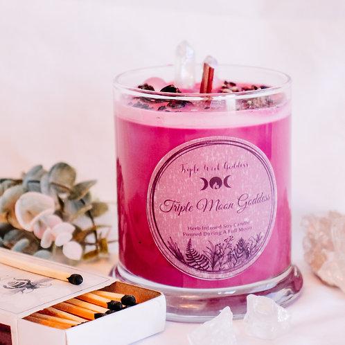 Triple Moon Goddess Candle