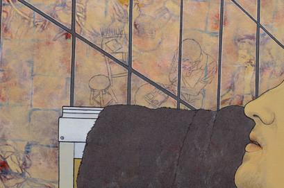 [detalhe] Corpo encharcado de óleo, 2018 acrílica sobre tela 160x110 cm  Foto: Suellen Nascimento