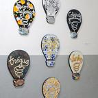 Série Lâmpadas - A Trilogia dos Sonhos, 2014 acrílica sobre MDF 40 x 27 cm [cada]
