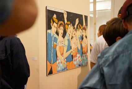 Celebrate good times, 2013 tinta pva sobre mdf 130 x 90 cm  Na Fase Estadual Mapa Cultural Paulista 2013/14 - Categoria Artes Plásticas (Arte Visuais), Praça das Artes, São Paulo - SP