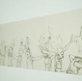 [detalhe]  sem título, 2018 impressão sobre folha de papel jorna 243 x 19 cm