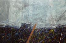 [detalhe] Fúria, 2021-2020 acrílica e lápis de cor sobre tela 142 x 159,5 cm  Foto: Suellen Nascimento