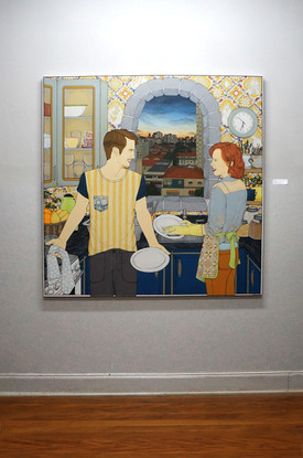Abóbora, 2014-2013 acrílica sobre tela 150 x 150 cm