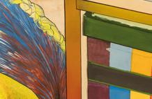 [detalhe] Lembra?, 2020 acrílica e lápis de cor sobre tela 154 x 159 cm  Foto: Marília Scarabello