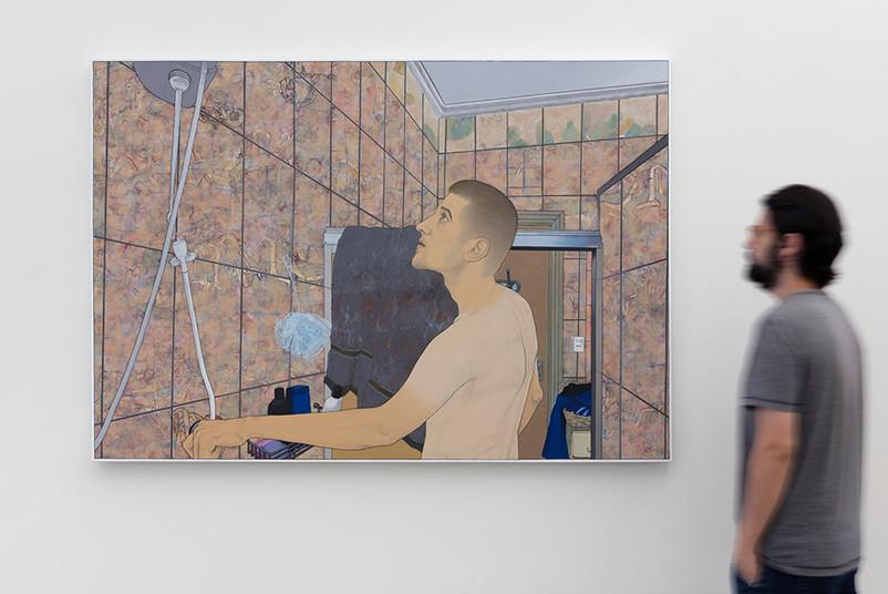 [detalhe] Corpo encharcado de óleo, 2018 acrílica sobre tela 160x110 cm  Foto: Galeria Kogan Amaro